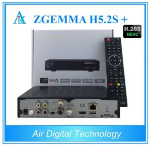 Original Zgemma H5.2s Plus Multistream H. 265 Hevc Satellite Receiver with DVB-S2 + DVB-S2X +DVB-T2/C Three Tuners pictures & photos