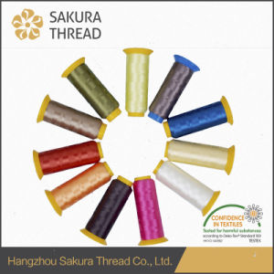 Sakura Polyester Yarns with Excellent Gloss for High Speed Computer Embroidery pictures & photos