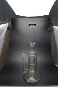 D&K Straight Tube with Ball Perc Windmill Perc Dry Herb Bowl Ice Pipe Glass Water Pipe pictures & photos