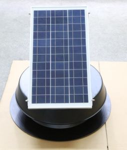 30W Solar Powered Attic Fan with Brushless Motor in USA pictures & photos