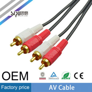 Sipu 3.5mm Jack Male to Male Audio 2RCA AV Cable pictures & photos