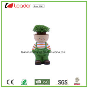 Polyresin Newest Garden Kid Girl Figurine Planter for Indoor&Outdoor Decoration pictures & photos