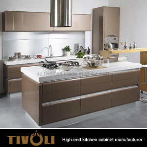 High Quality MDF Wood Veneer Modern Kitchen Cabinet for Apartment Australia pictures & photos
