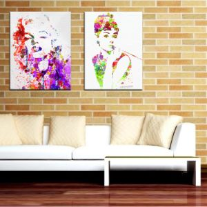 Print Pop Art Canvas Marilyn Monroe Painting for Bedroom pictures & photos