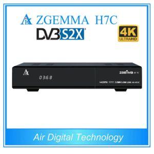 2017 New Best Hardwares&Softwares 4k Uhd Kodi TV Box Zgemma H7c with DVB-S2/S2X+2*DVB-T2/C Triple Tuners pictures & photos