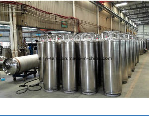 Chinese Good Quality Cryogenic Storage Tank for Lar, Lox, Lin with Valves pictures & photos