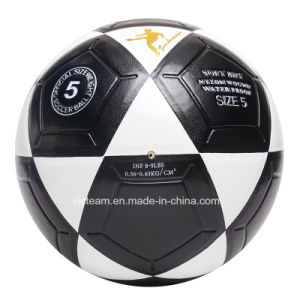 Robust Black and White Deflatable Leather Football pictures & photos