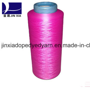 100% Polyester Filament Yarn Dope Dyed DTY 75D/72f Super Fine Denier pictures & photos
