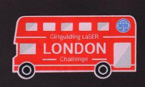Laser Cut Edge Car Shape Woven Badge pictures & photos