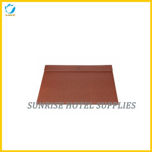 Hotel Brown Leather Desk Blotter pictures & photos