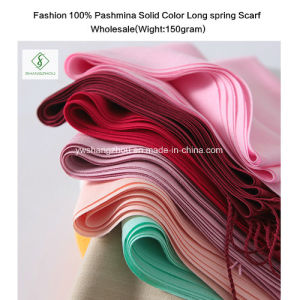 Hot Sell Soft Cashmere Shawl Lady Fashion Long Plain Hijab Scarf Wholesale pictures & photos