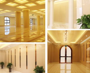 High Quality Beige Nano Crystallized Glass Column Roman Pillar pictures & photos