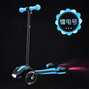 Mini Fire Jet 3 Wheel Kids Toy Electric Kick Scooter (SZKS009) pictures & photos