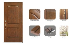 Popular Classic Rustic Fiberglass Door pictures & photos