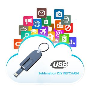 Customized Sublimation USB MDF Keychain for Digital Printing Blank pictures & photos