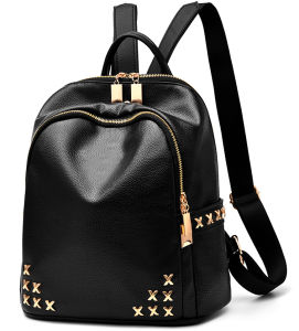 Fashion Style Simple Travel Bag PU Women Backpack pictures & photos