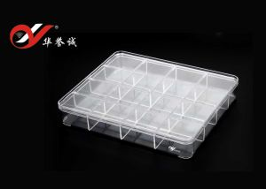 16 Grids Rectangle Bracelet Display Plastic Box with Coner pictures & photos
