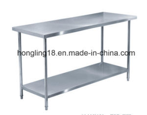 1.6m 2-Tier Stainless Steel Worktable for Kitchen Bakery pictures & photos