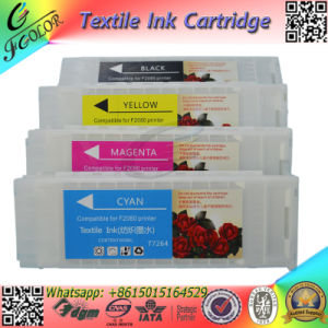 Replace Textile Ink Cartridge with Chip for F2000 F2080 White Ink Cartridge pictures & photos
