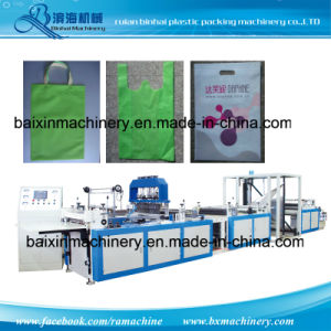 Nonwoven Fabric Soft Loop Handle Bag Making Machine pictures & photos