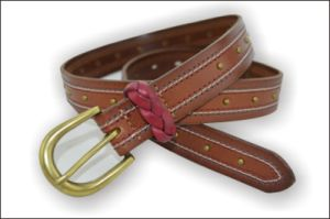 Brown Full Grain Cowhide Leather Belt pictures & photos