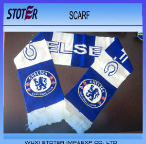 Wholesale Custom Logo Soccer Fans Knit Scarf