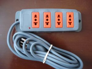 Factory 4 Way Italy Power Strip Italian Power Extension Socket pictures & photos