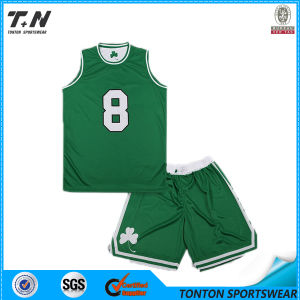 2015 Hot Sale Custom Sublimation Reversible Basketball Uniforms pictures & photos