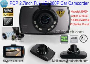"""Hot 2.7"""" Full HD 1080P Car Video Camcorder with HDMI out, AV-out Function Car DVR-2710 pictures & photos"""