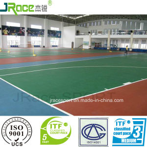 Silicone PU Sport Surfaces for Tennis, Badminton, Volleyball, Basketball Court pictures & photos
