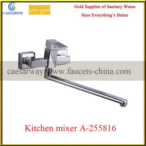 Square Deck Mounted Single Lever Brass Kitchen Sink Faucet pictures & photos
