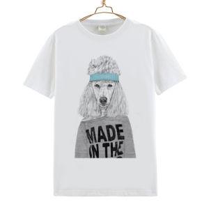Wholesale Price 100 Cotton Round Neck White T Shirt pictures & photos