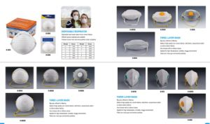 Cone N95 Dust Mask/N95 Face Mask/Respirator Dust Mask pictures & photos