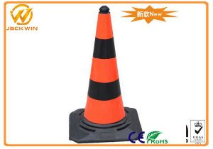 Road Maintenance Black and Orange Heavy Duty 750mm Reflective Traffic Cone pictures & photos