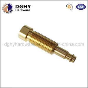 Customized Precision Metal Brass Turned Parts by CNC Lathe Machining pictures & photos