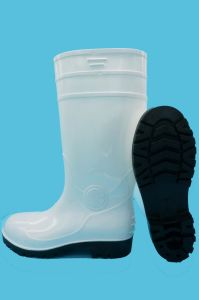 PVC Rain Boots with Safetoe (JK46503-White) pictures & photos