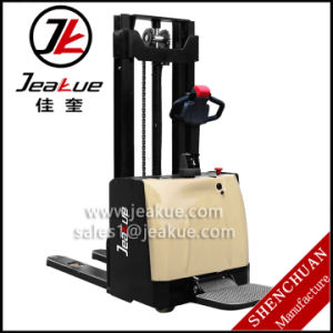 1.2t - 1.5t Cover Electric Stacker Standing Stacker Power Stacker for Sale pictures & photos