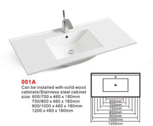 Cabinet Basin (No. 001A) Rectangular Ceramic Sink Bathroom Sanitaryware pictures & photos