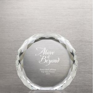 Luminous Circle Beveled Round Crystal Trophy (#72645) pictures & photos