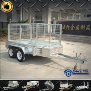 2000kgs Modern Tandem Box Trailer Sale (SWT-TT85) pictures & photos