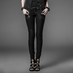 Punk Fashion Slim Women Long Casual Pencil Pants (K-173) pictures & photos
