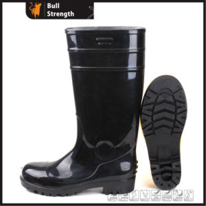 Whole Black PVC Safety Rain Boot with Steel Toe (SN5126) pictures & photos