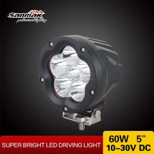 "5"" 60W Latest Design Spot Beam Black LED Driving Light pictures & photos"