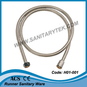 No Extensible Single Lock Stainless Steel Flexible Shower Hose (H01-001) pictures & photos