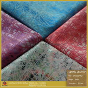 Pringting Silica Gel on Satin Fabric for Shoes PU Leather (SP026) pictures & photos
