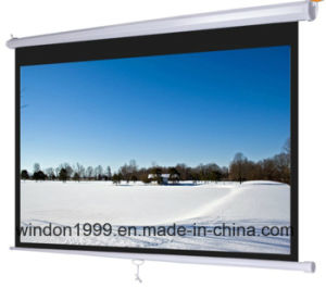 Self-Lock Manual Projection Screen / Pull Down Screen pictures & photos