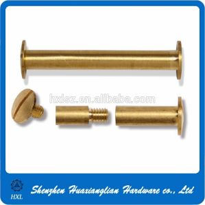 Turning Knurled Head Male-Female Brass File Connecting Screw pictures & photos