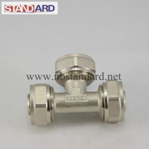 Equal Tee Compression Brass Fitting for Pex Pipe