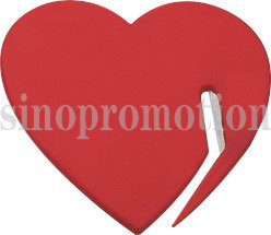 Heart-Shaped Promotional Plastic Letter Opener