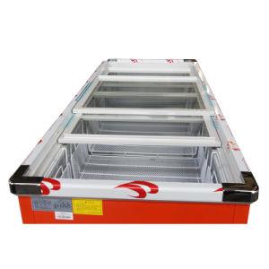 680L Sliding Door Flat Cabinet Island Freezer for Supermarket pictures & photos